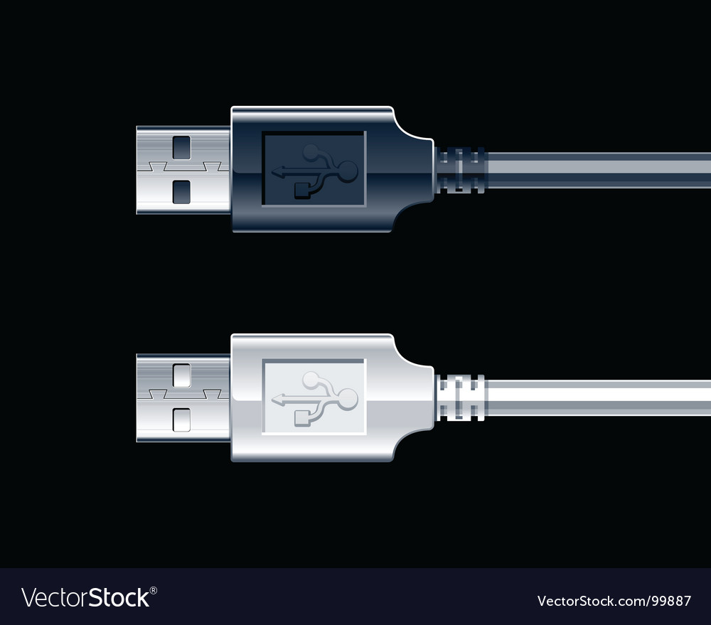 USB wire vector image