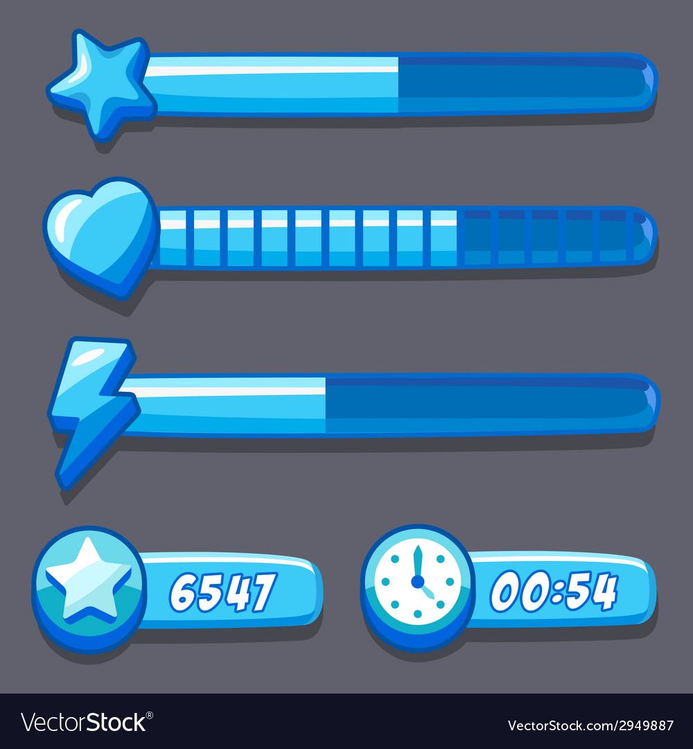 Progress Energy Stock Quote: Game Ice Energy Time Progress Bar Royalty Free Vector Image