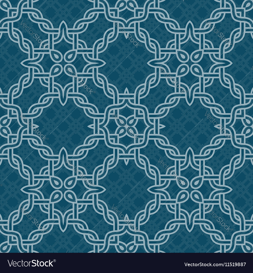 Knot tribal seamless pattern vector image