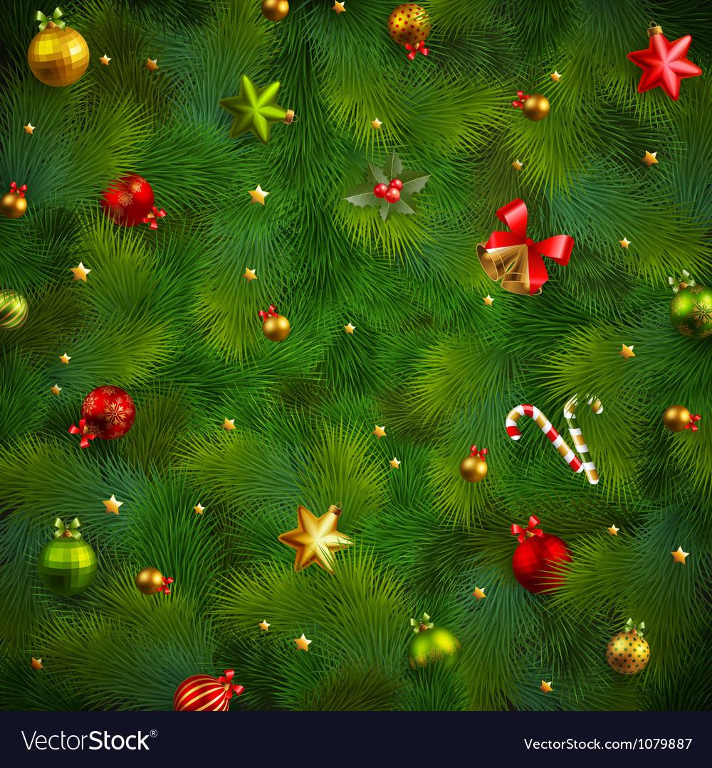 Xmas tree texture vector image