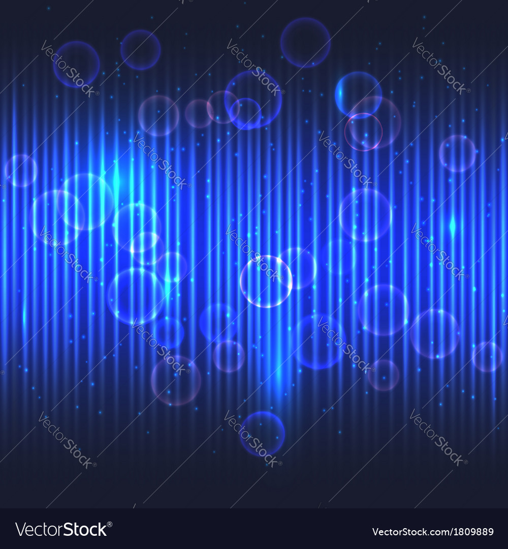 Abstract glowing blue background vector image