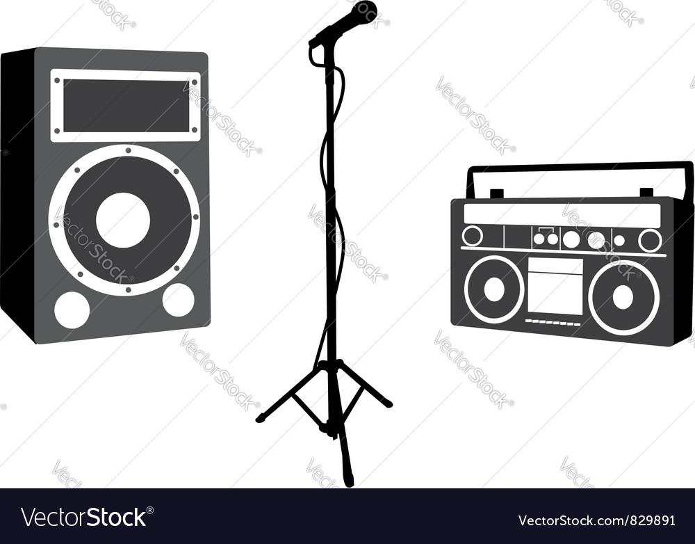 Music design elements vector image