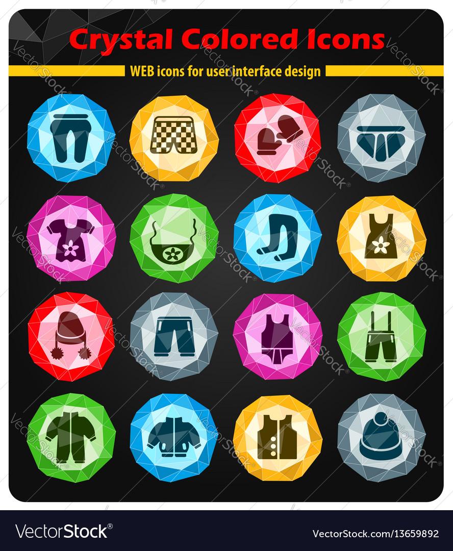 Baby clothes icon set vector image