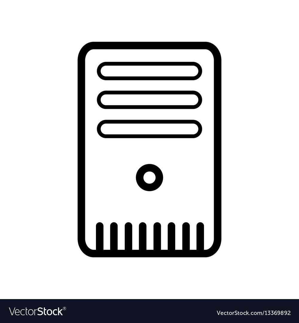 Case of computer line vector image