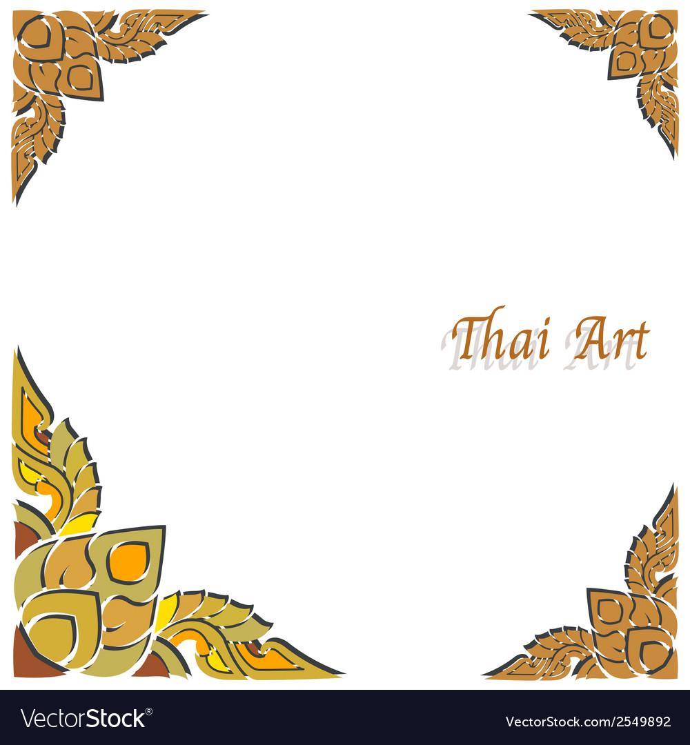 Thai art frame vector image