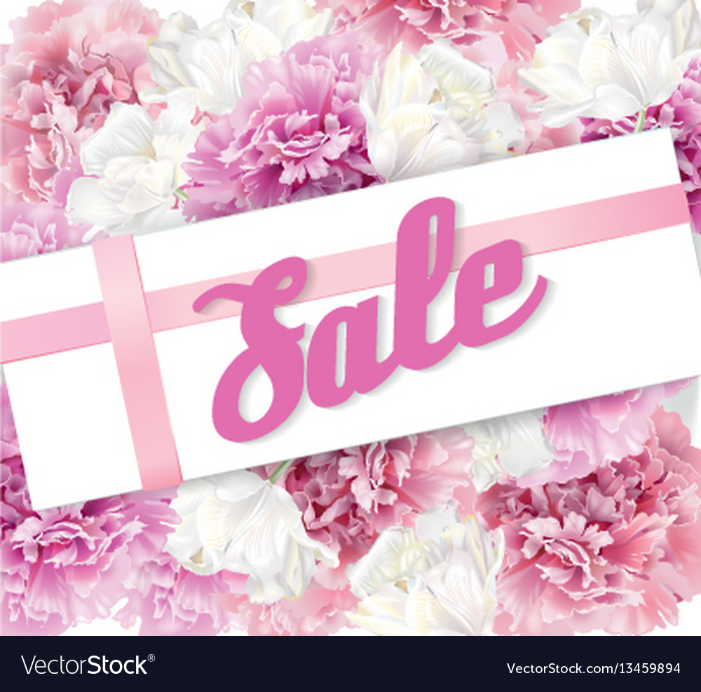 Peony sale banner vector image