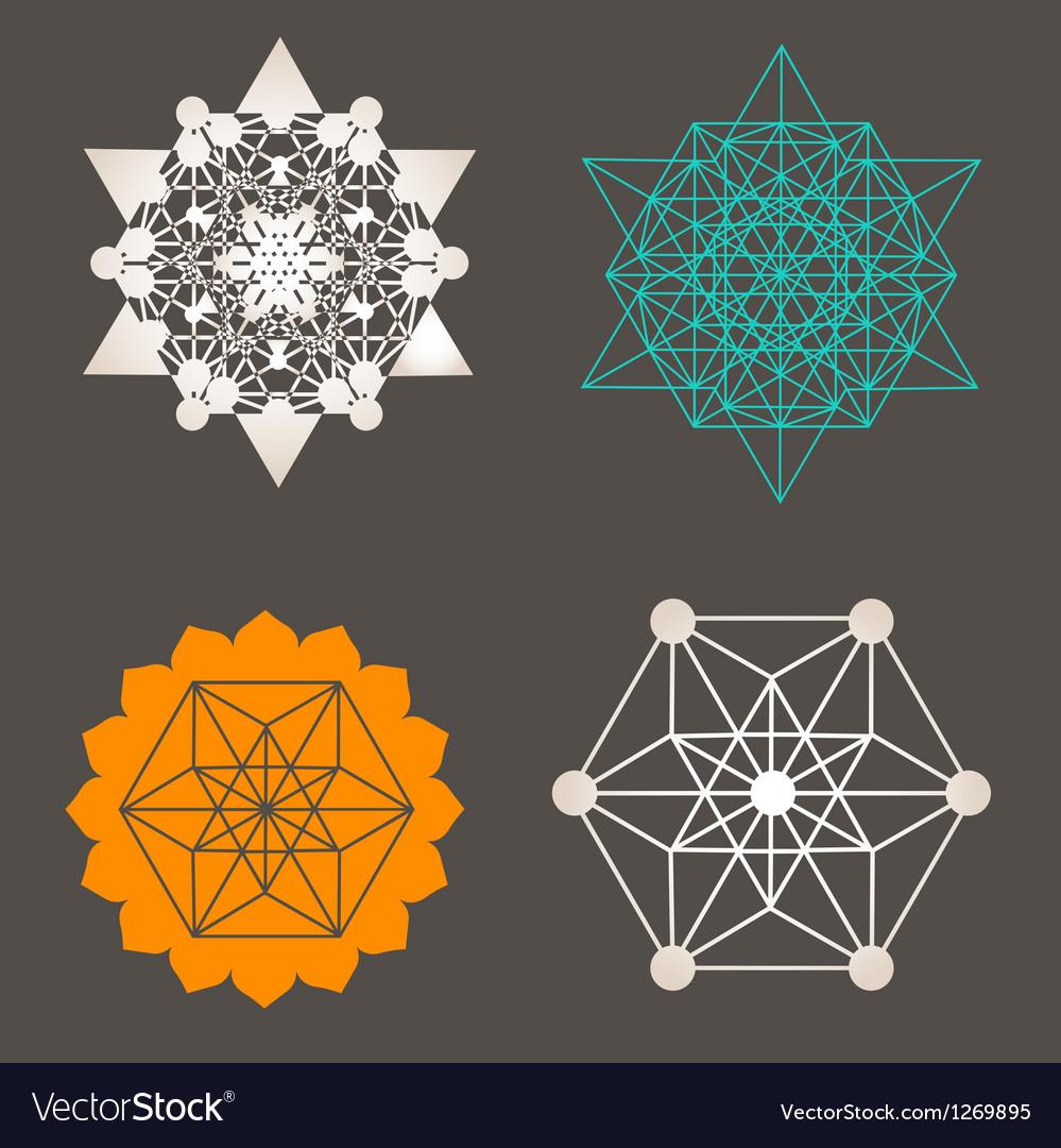 Star Tetrahedron designs Vector Image