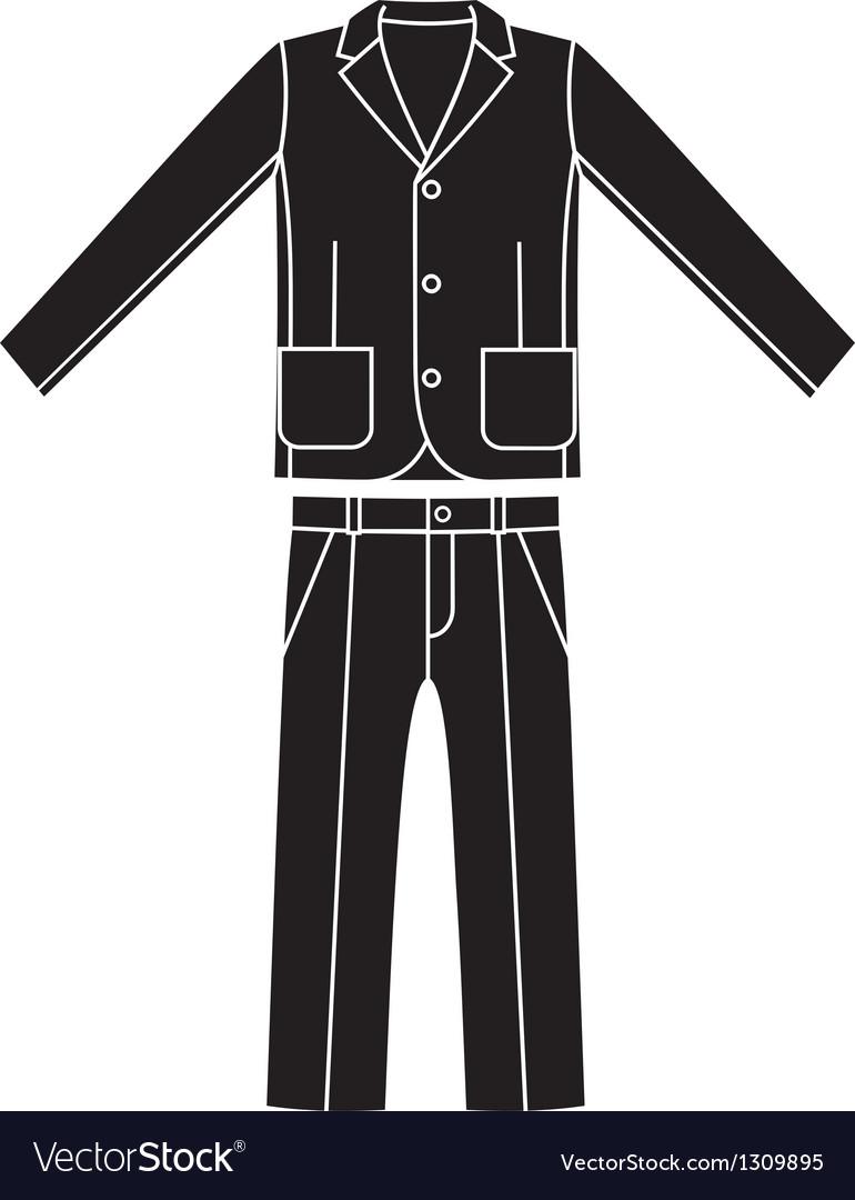 Coats and pants vector image