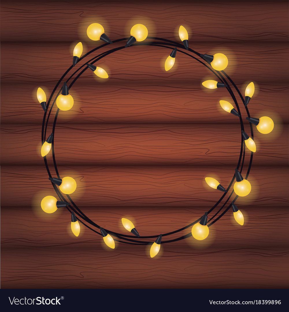 Decorative christmas lights vector image