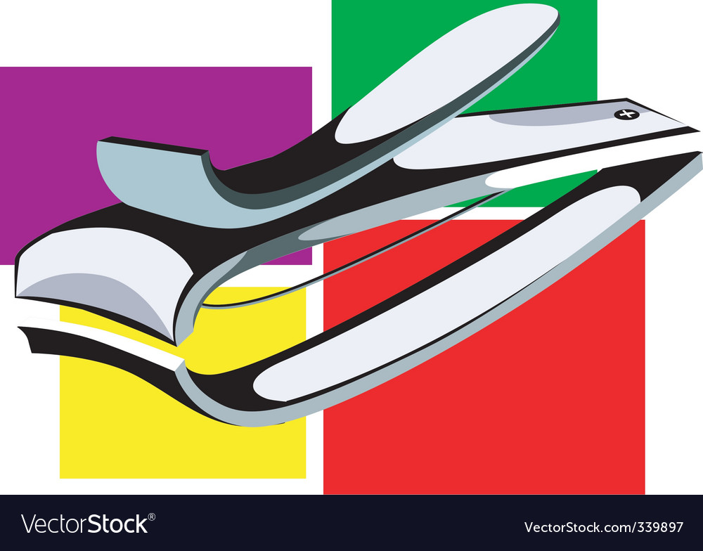 Nail cutter vector image