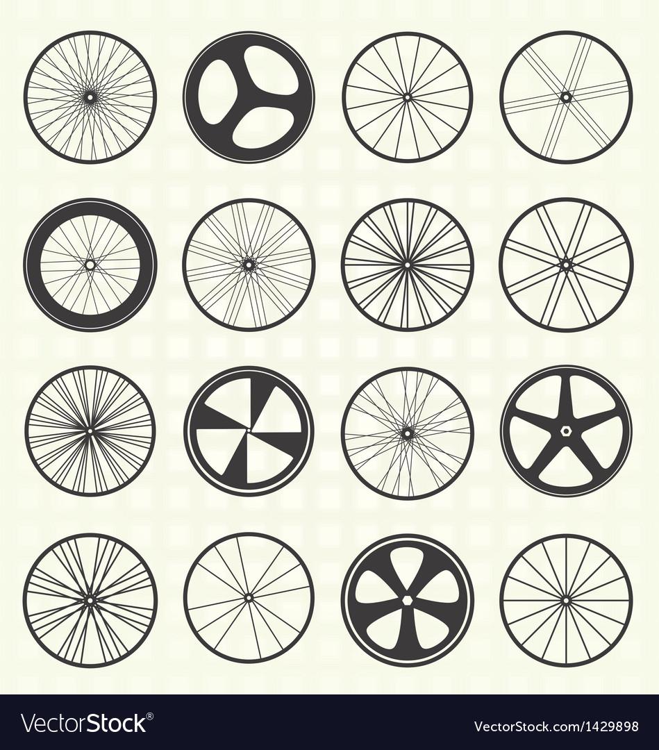 Bike Wheel Collection vector image