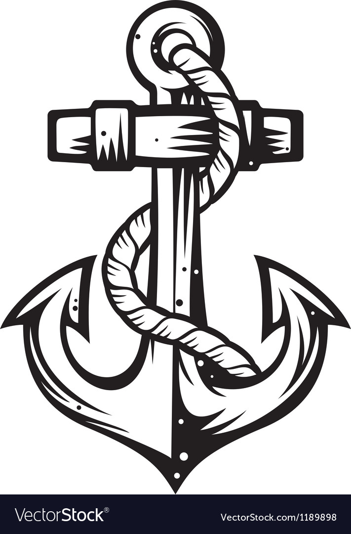Anchor Royalty Free Vector Image - VectorStock