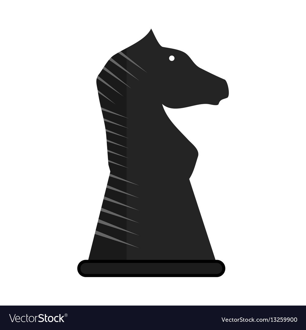 Chess knight business vector image