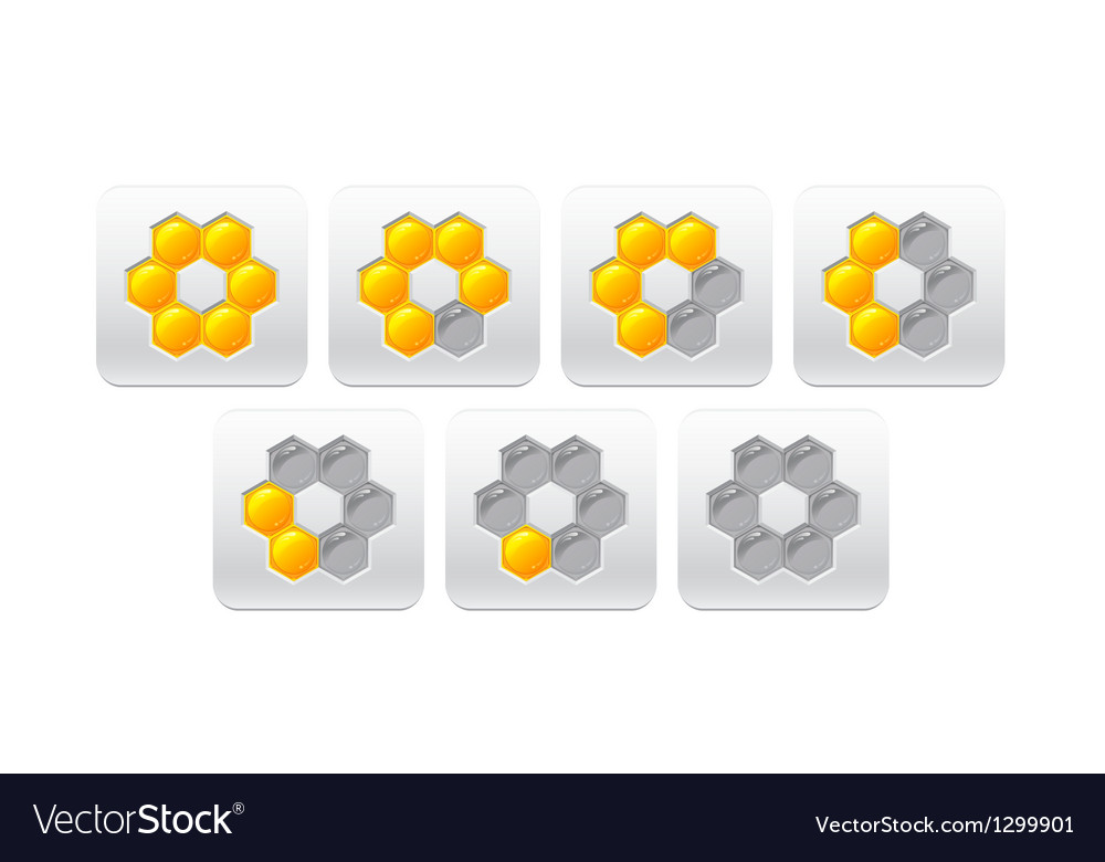 Progress bar with honeycomb vector image