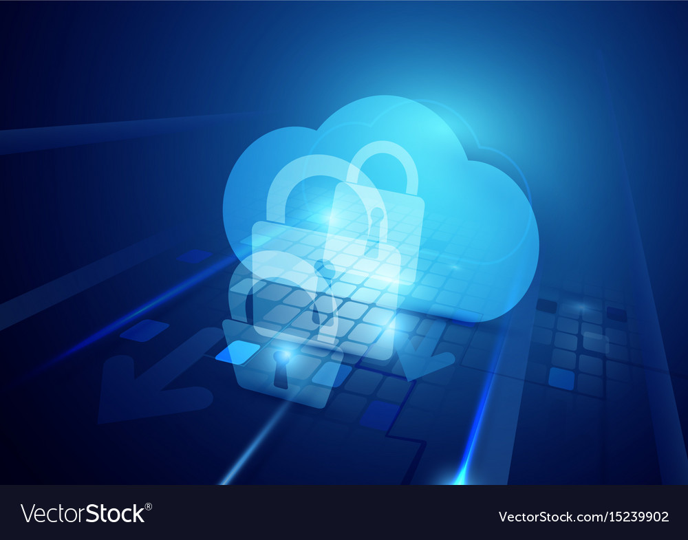 Abstract internet security and safety technology vector image