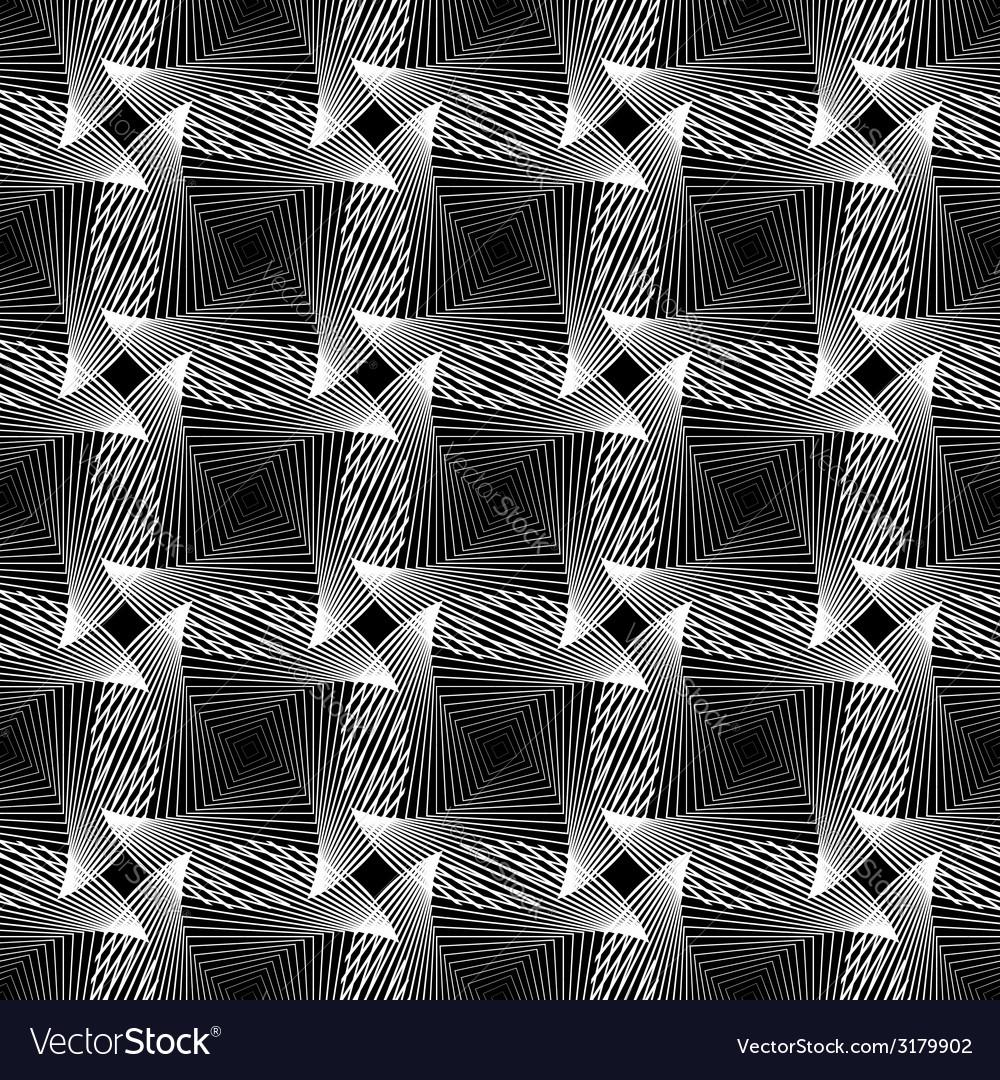 Design seamless monochrome grid decorative pattern vector image