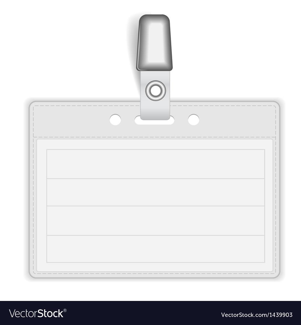Badge Holder vector image