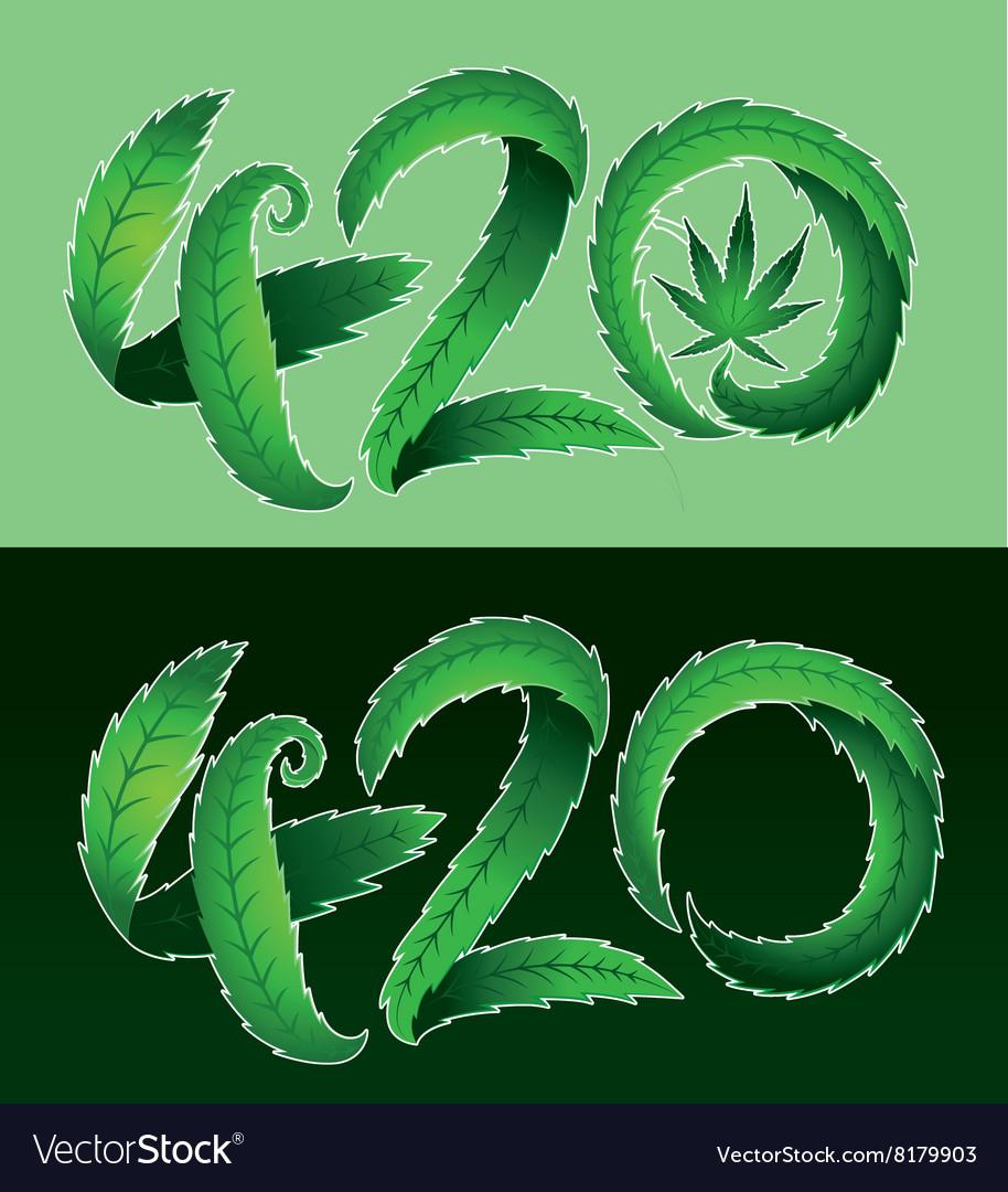 Marijuana leaf symbol and 420 hemp text royalty free vector marijuana leaf symbol and 420 hemp text vector image biocorpaavc Gallery