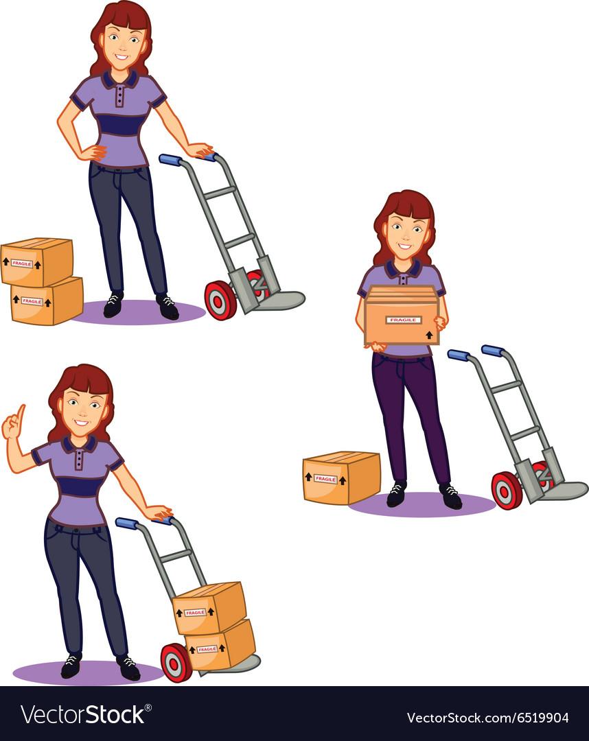 Female Remover Staff vector image