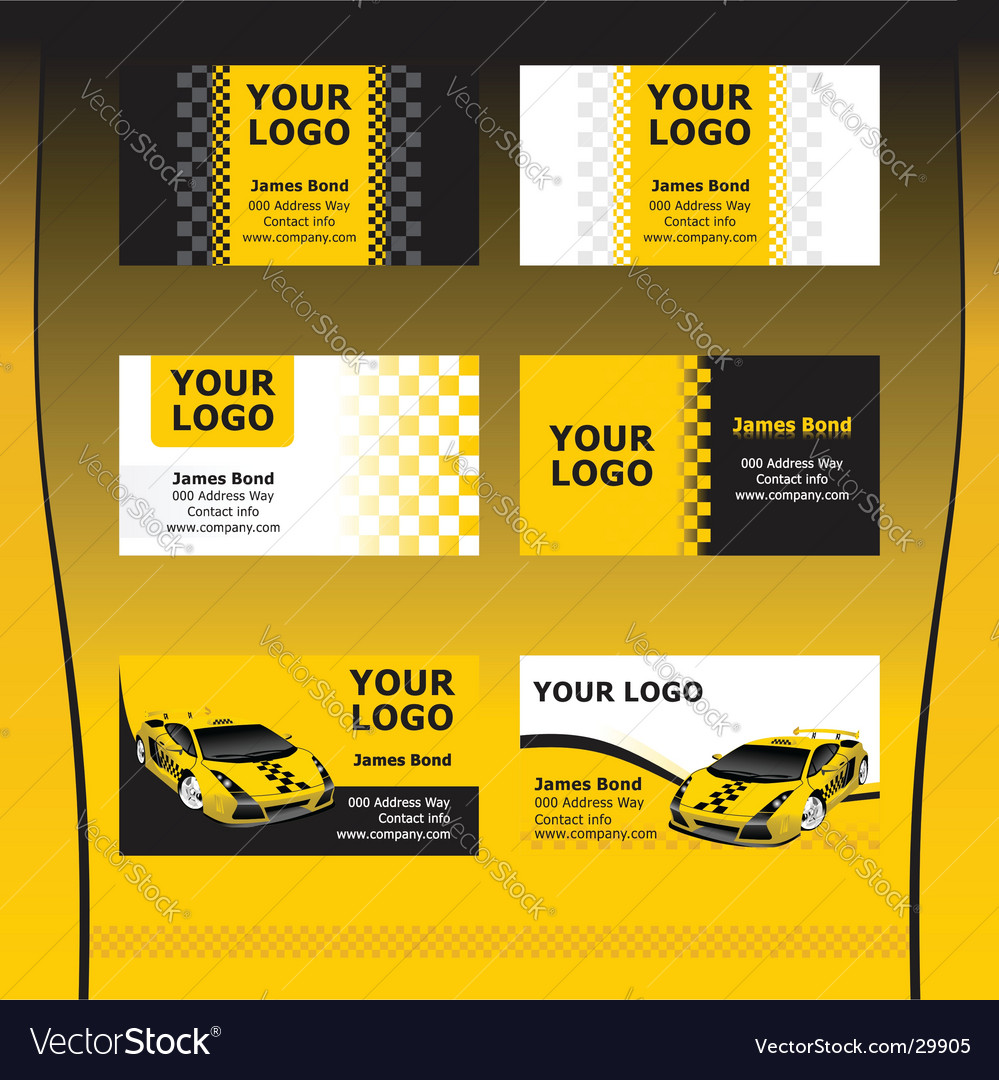 taxi service business cards royalty free vector image - Taxi Business Cards