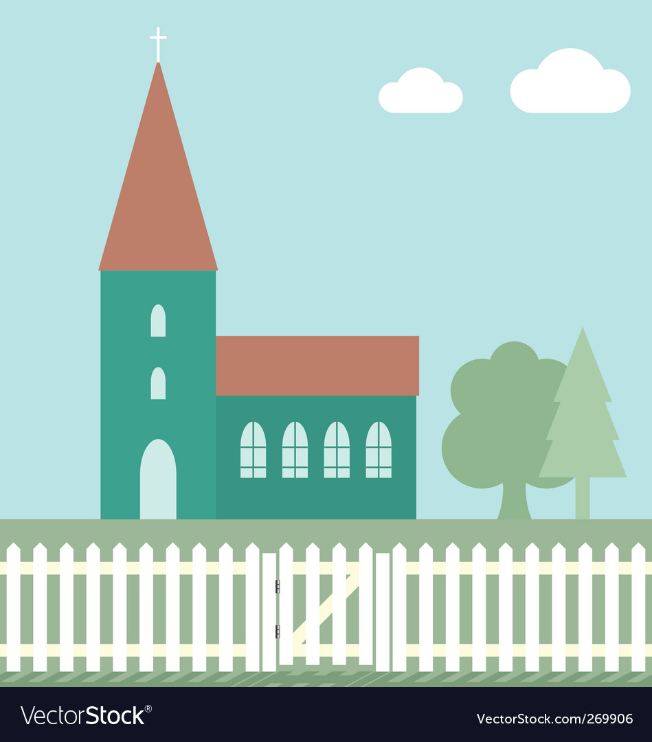 Church fence vector image