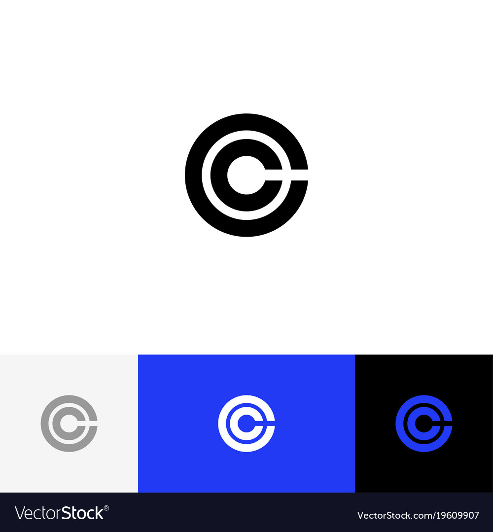 C in circle minimalism logo icon c royalty free vector image c in circle minimalism logo icon c vector image biocorpaavc Images