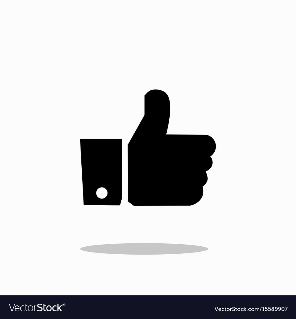 Like icon in trendy flat style isolated on vector image