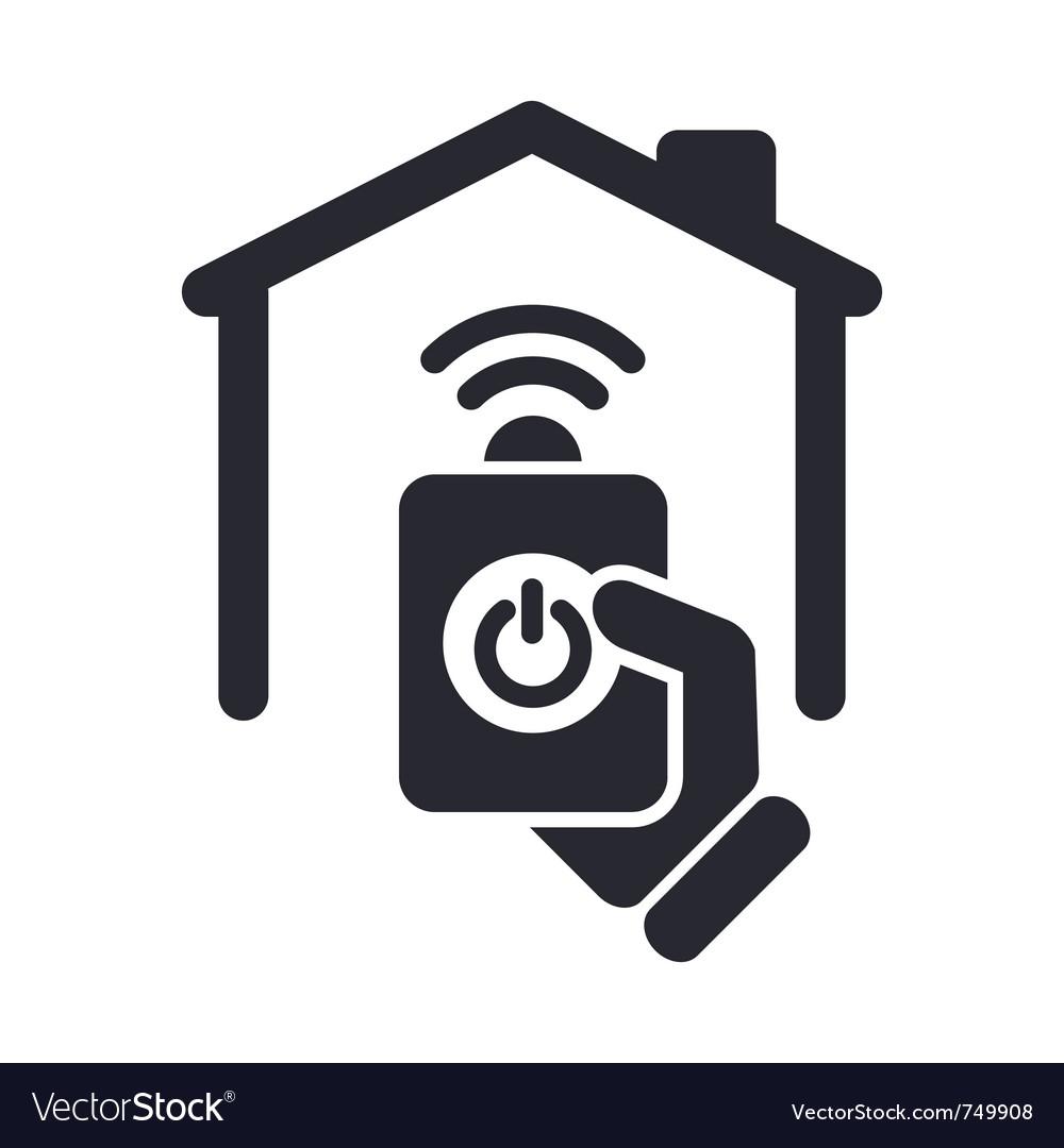 Remote home icon vector image