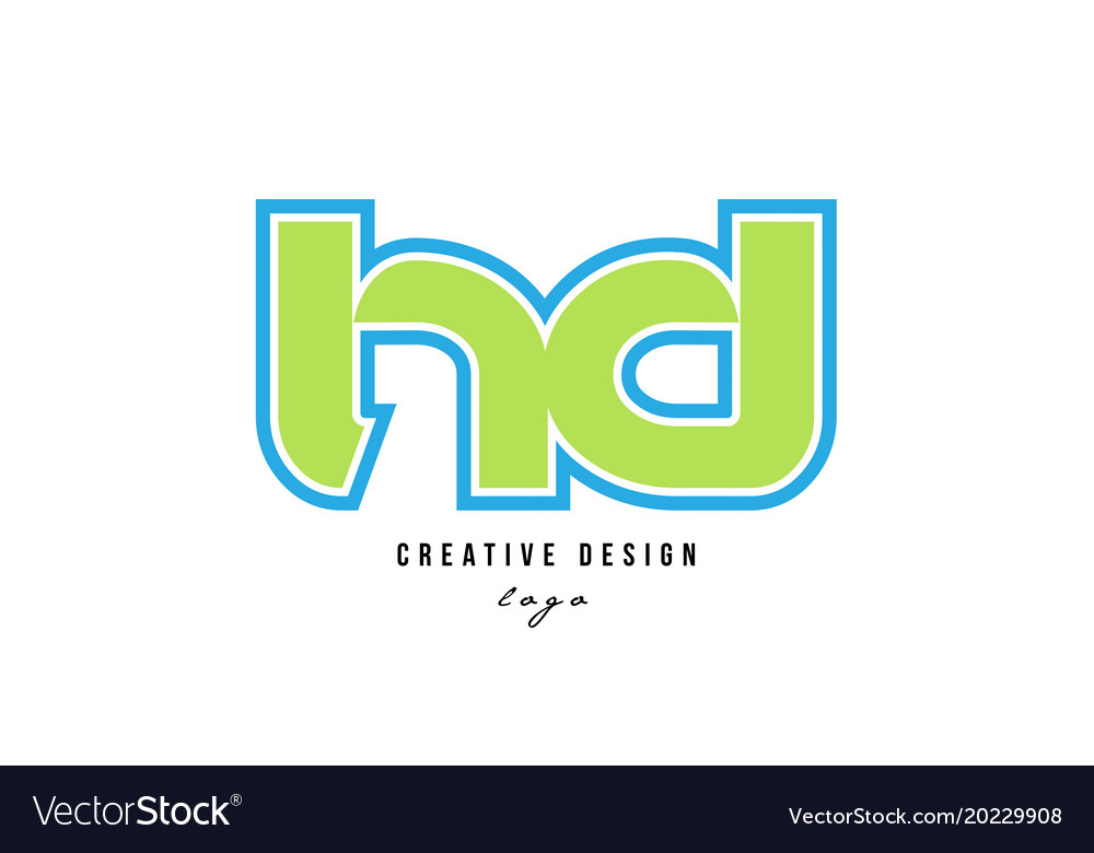 Blue green alphabet letter hd h d logo icon design blue green alphabet letter hd h d logo icon design vector image thecheapjerseys Images