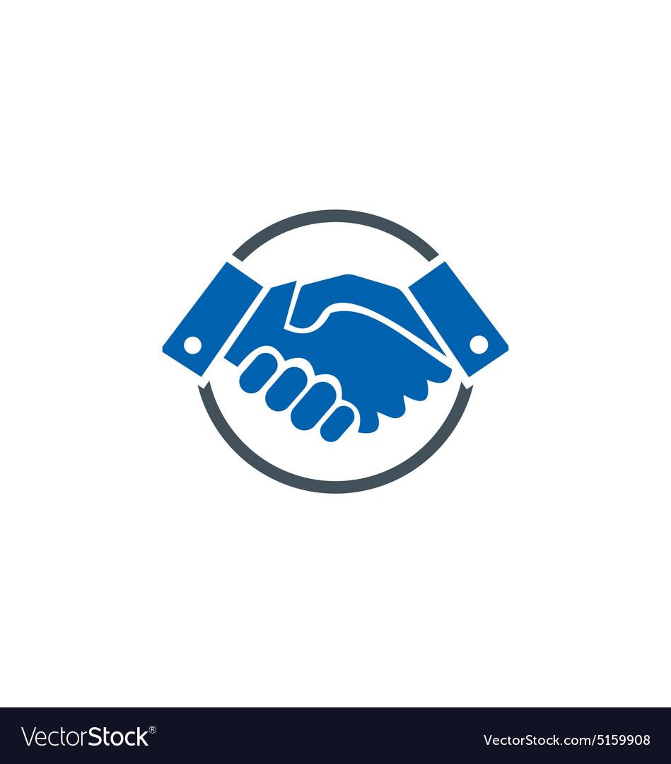 hand shake deal business finance logo royalty free vector