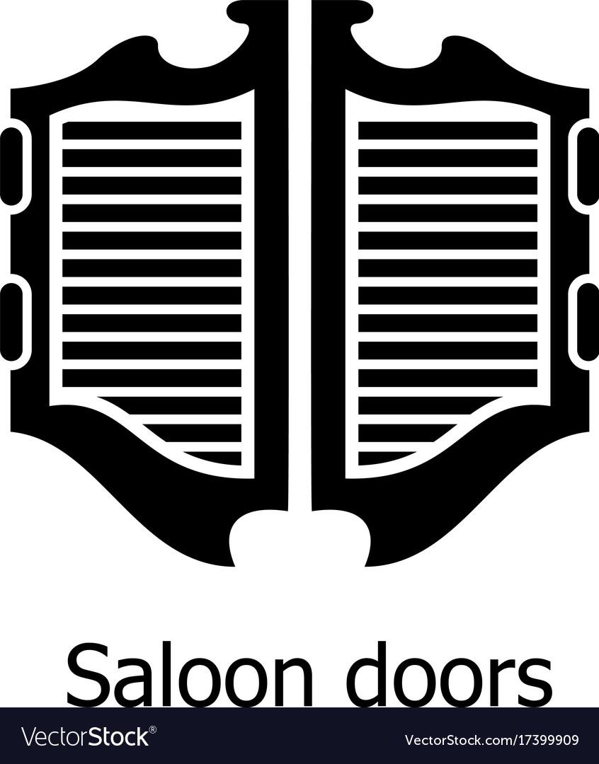 Saloon door icon simple black style vector image  sc 1 st  VectorStock & Saloon door icon simple black style Royalty Free Vector pezcame.com