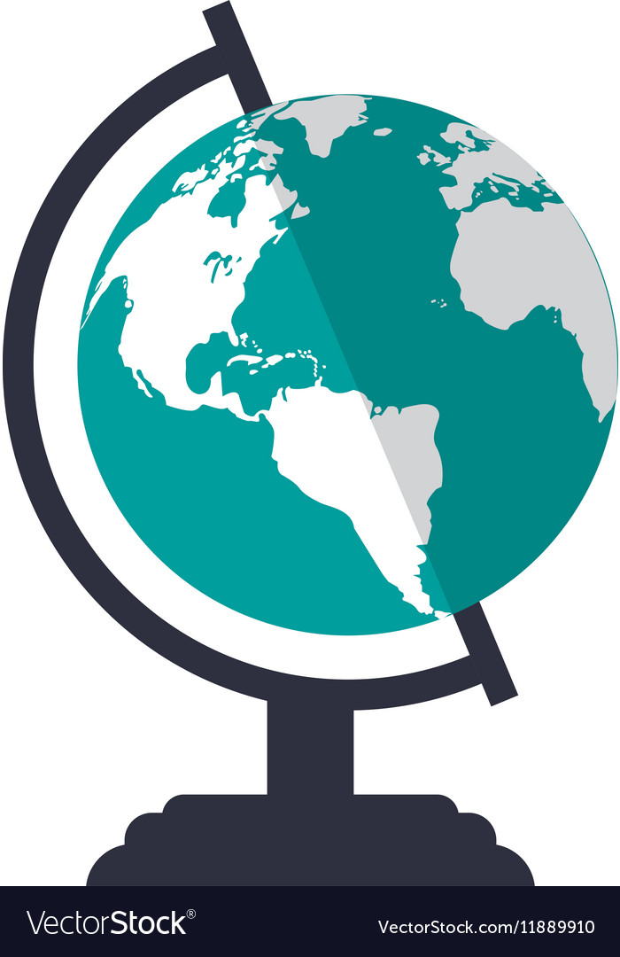 Globe map world earth business icon vector image