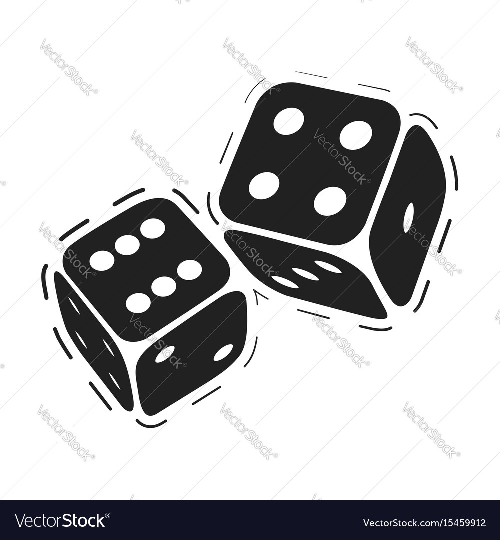 Casino game dices vector image