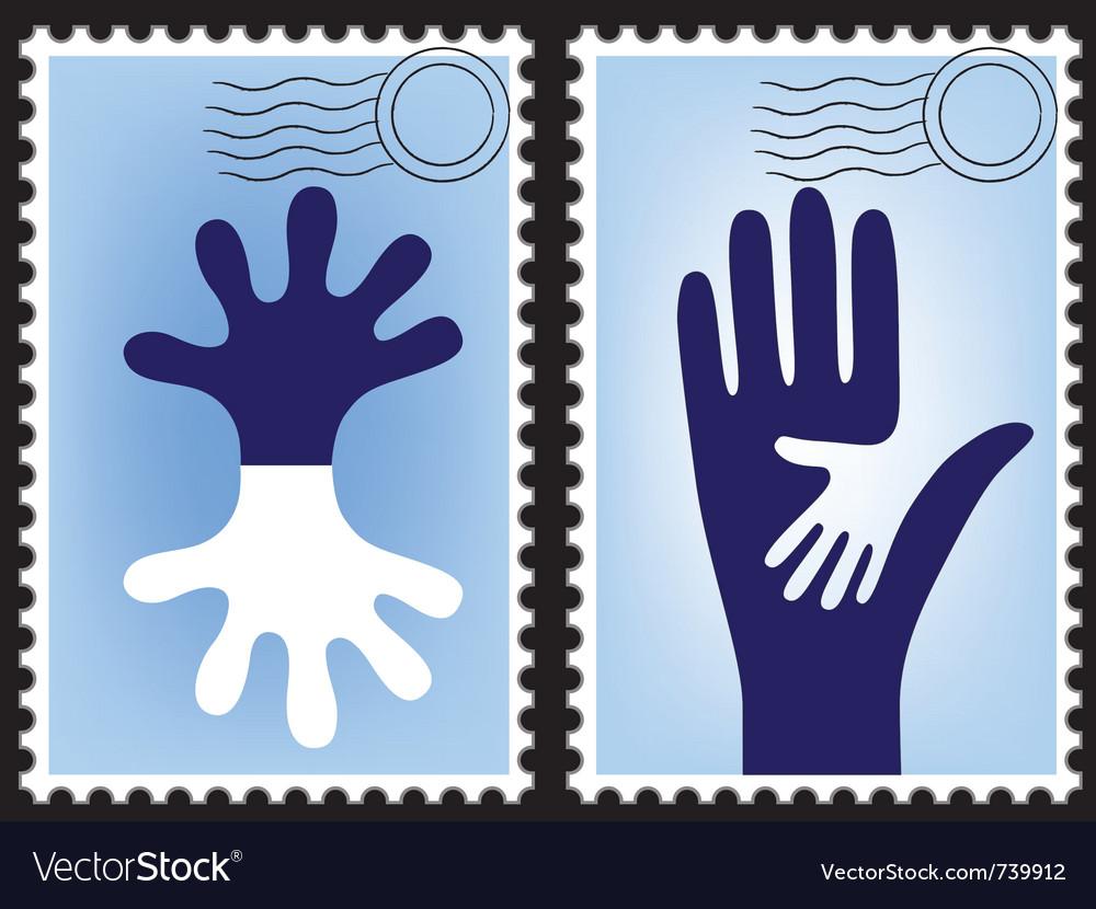 Postage stamp postcard vector image
