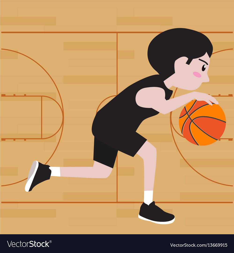 Basketball player cartoon vector image