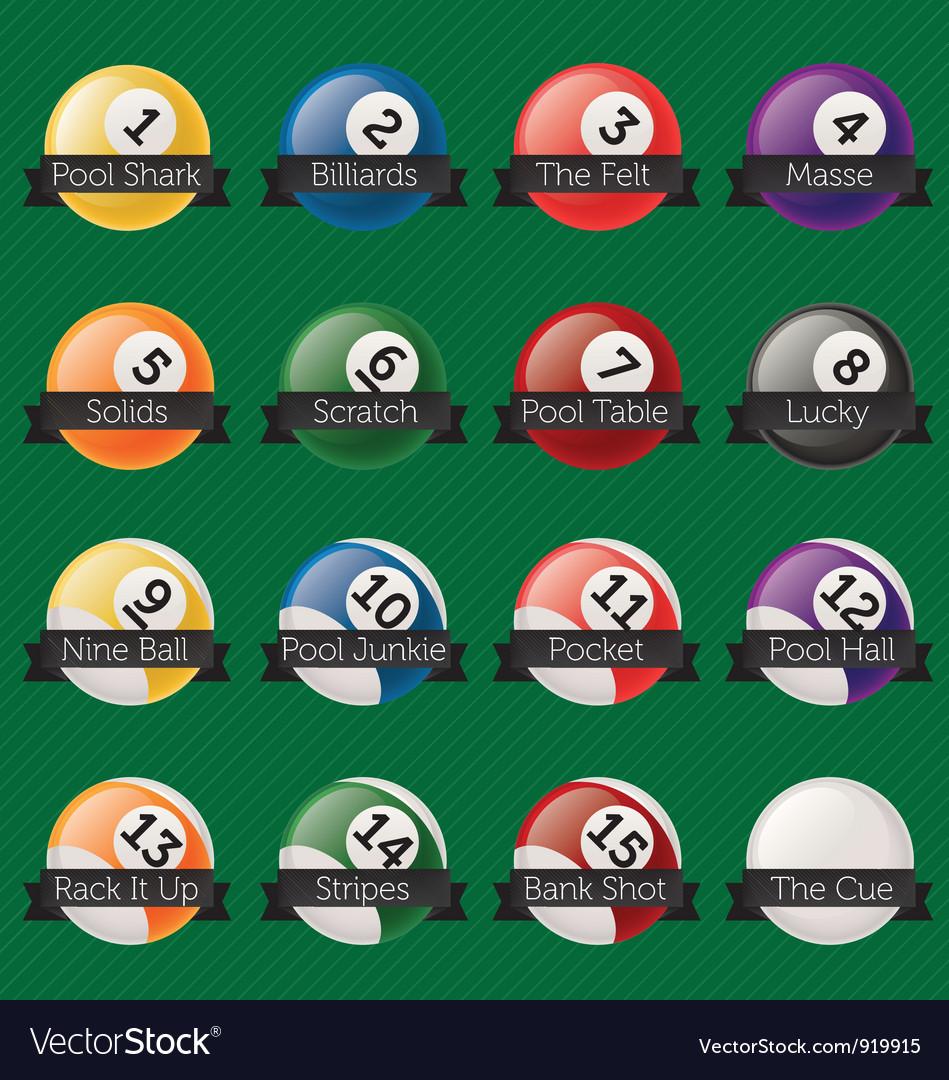 Billiard Balls Banners vector image