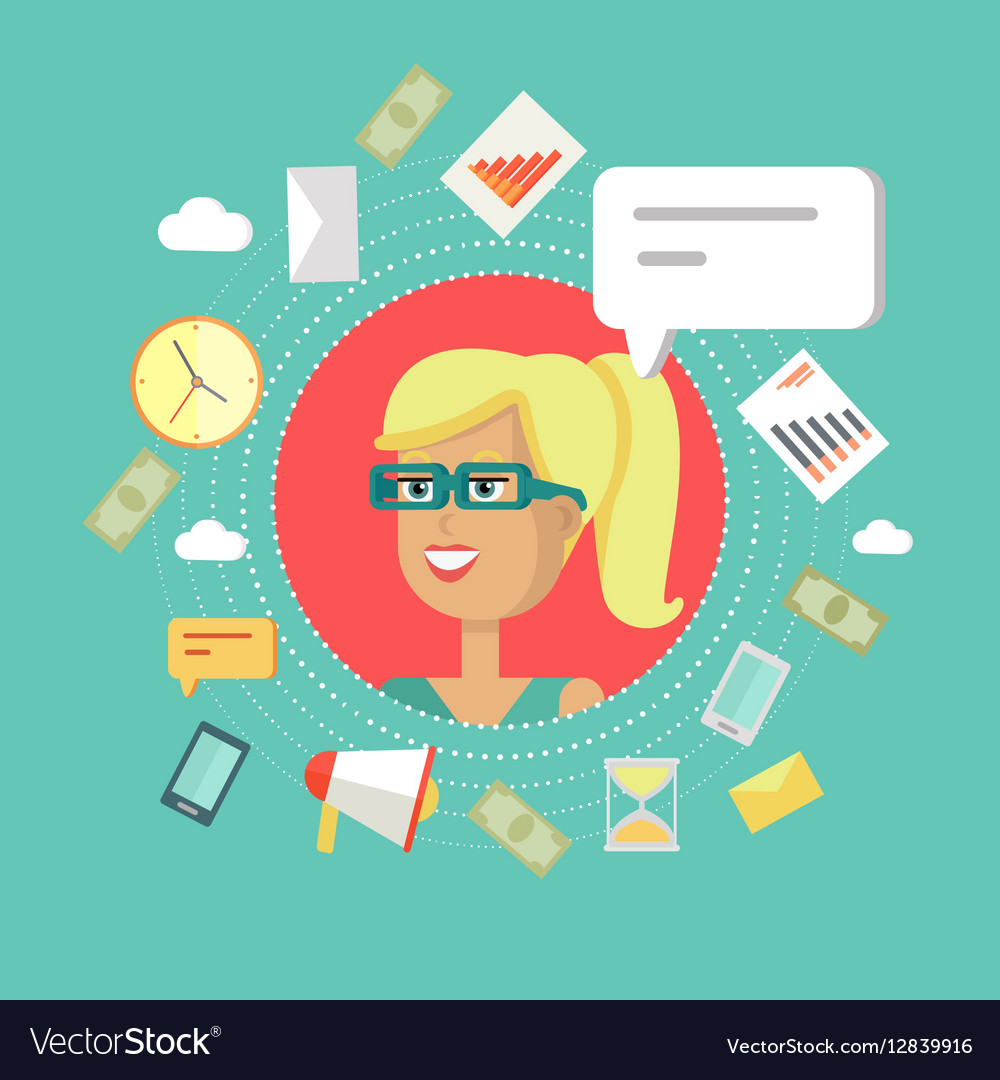 Creative Office Background vector image