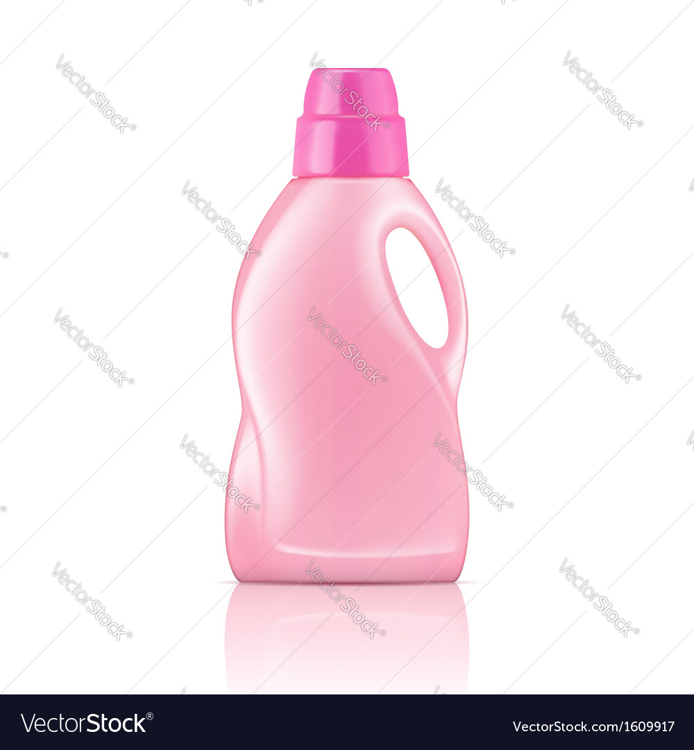 Pink liquid laundry detergent bottle vector image