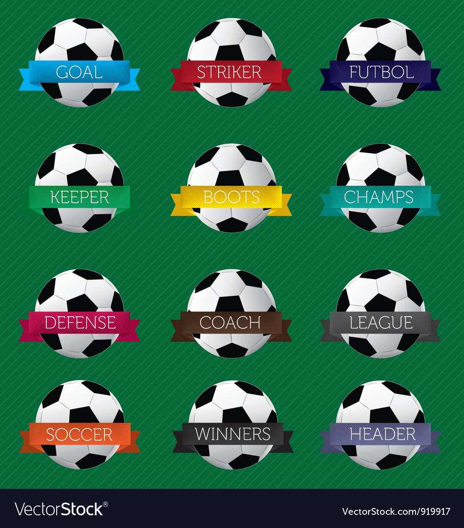 Soccer Ball Banners vector image