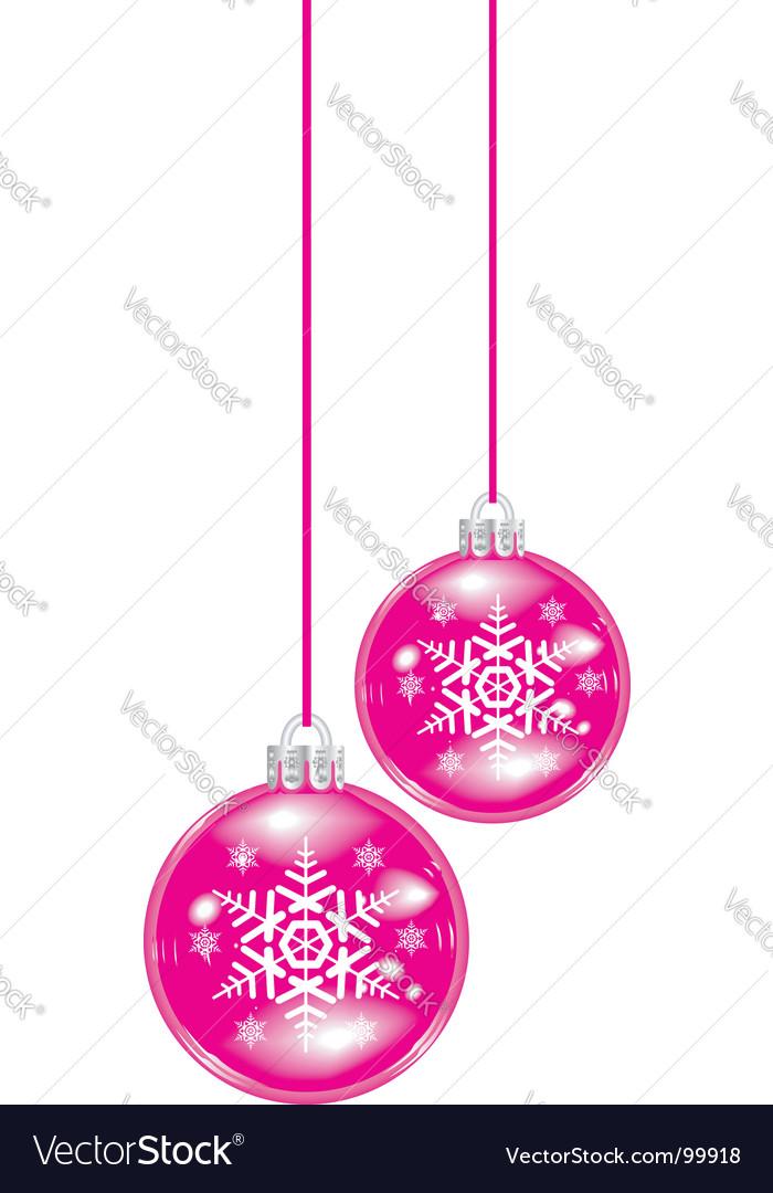 Christmas sphere vector image