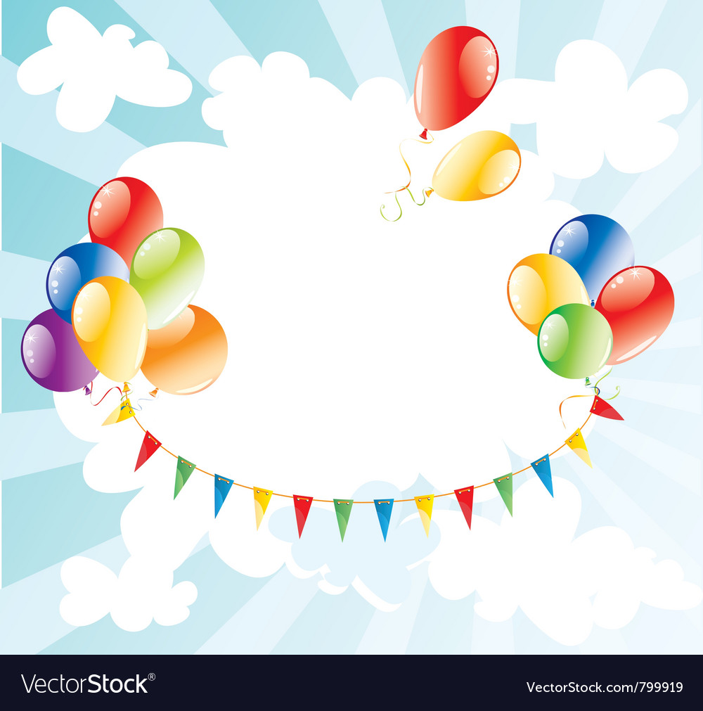 colorful balloons in the sky royalty free vector image