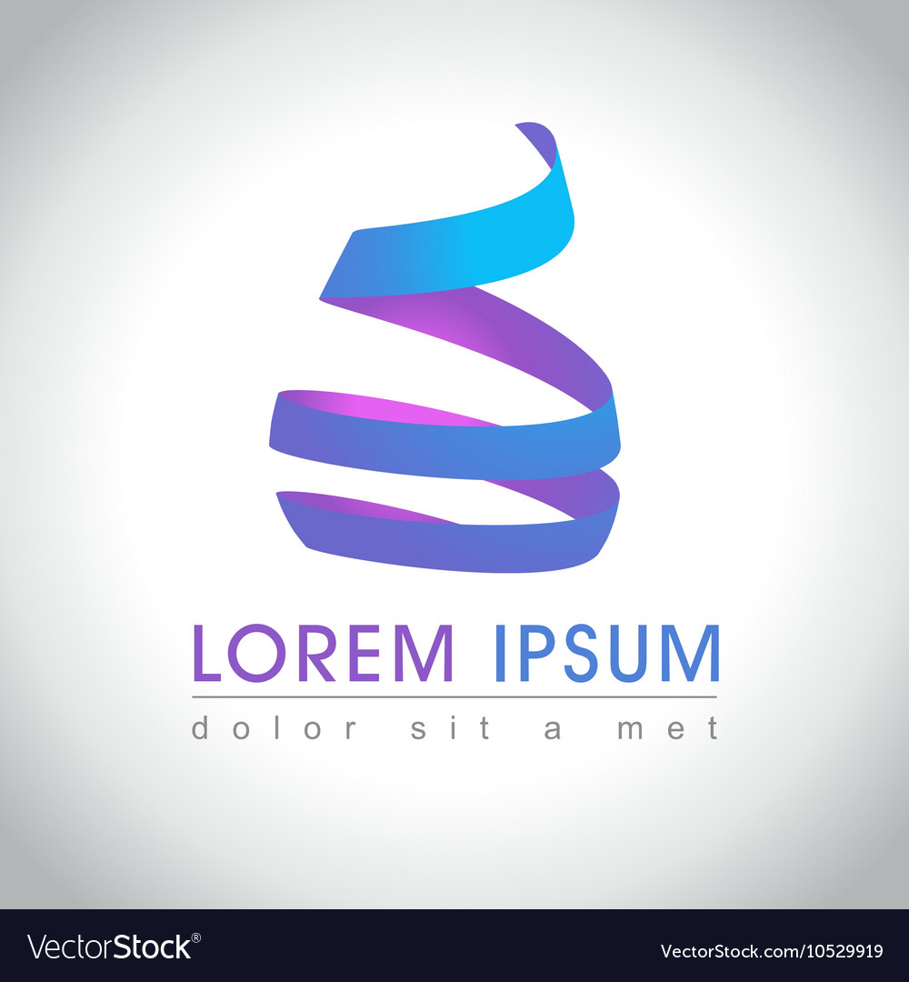 Swirl logo sample vector image