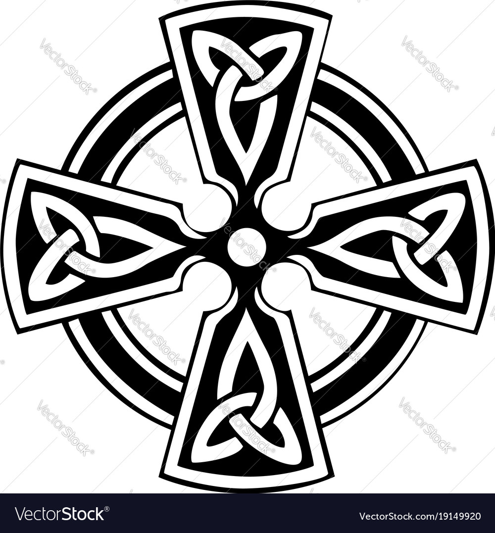 celtic cross royalty free vector image vectorstock rh vectorstock com celtic cross vector graphic celtic cross vector graphic
