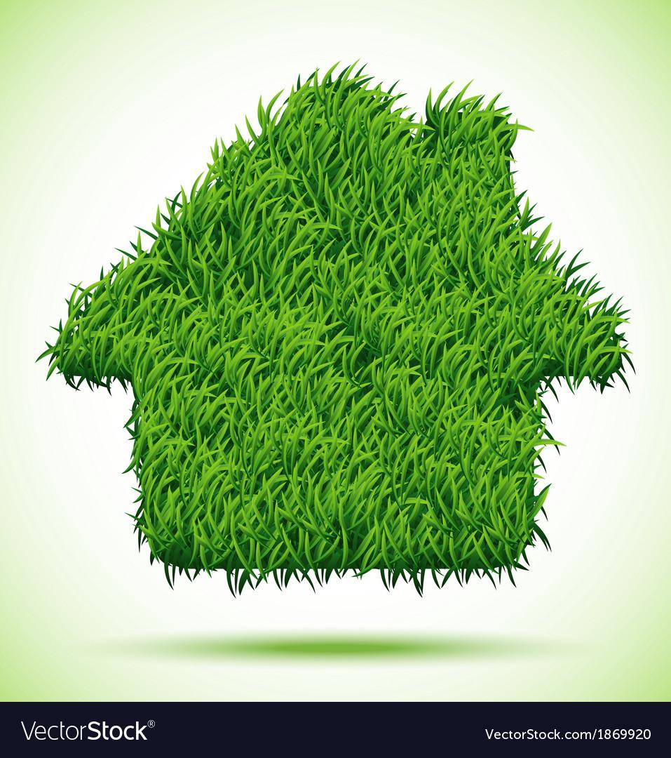 House Green Grass vector image