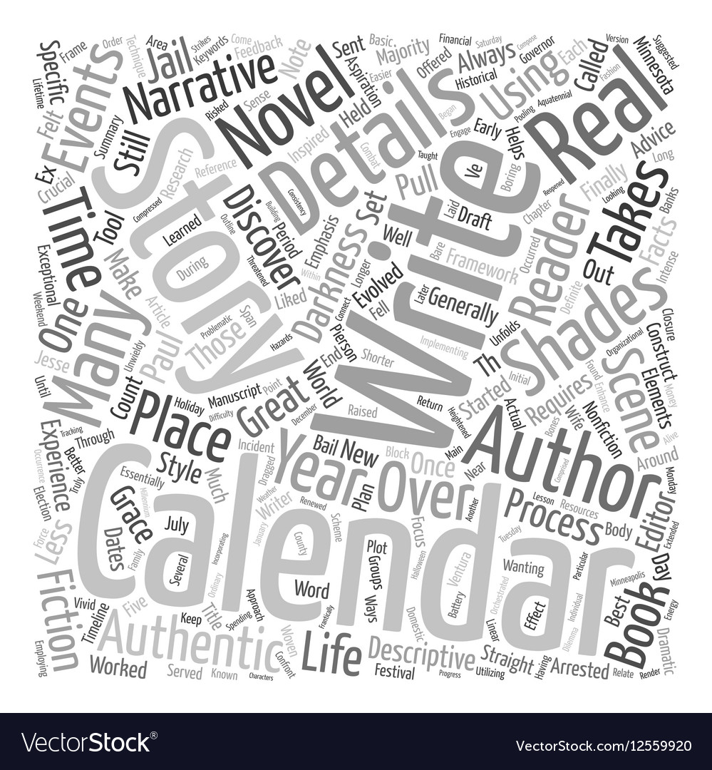 The Details Are In The Calendar text background vector image