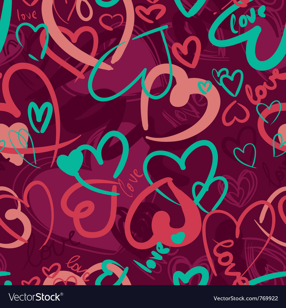 Cute valentines seamless vector image