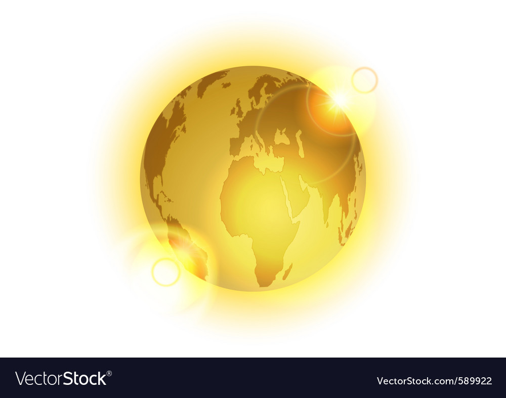 Golden world vector image
