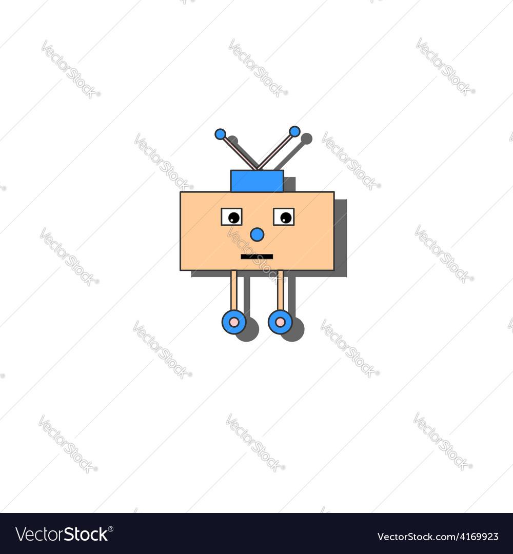 Sad little robot vector image