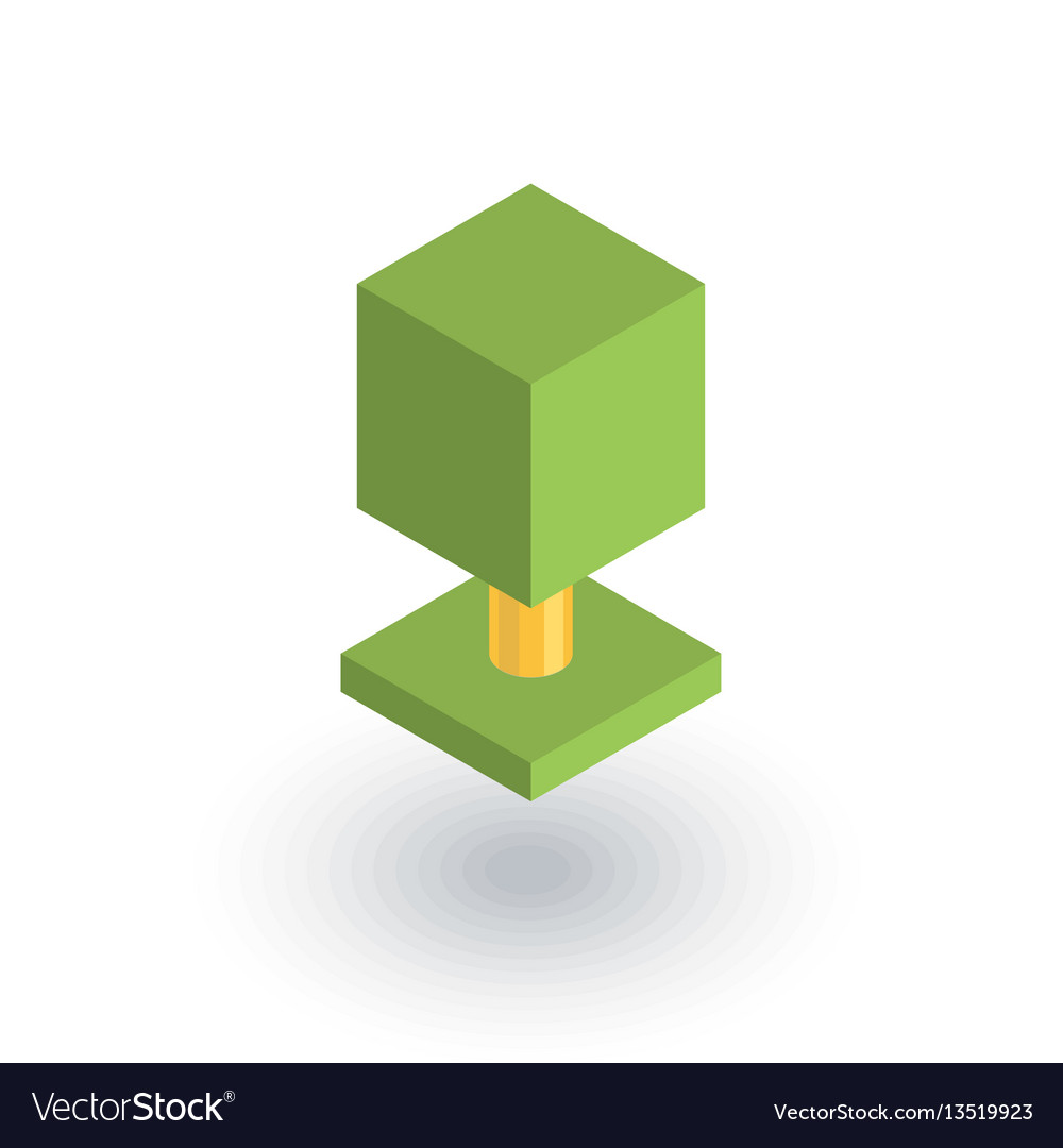 Tree isometric flat icon 3d vector image