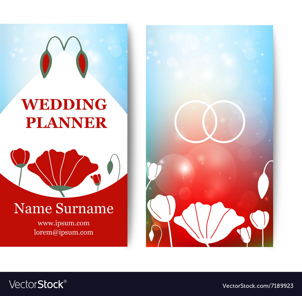 Vintage wedding business card template with vector image vintage wedding business card template with vector image alramifo Gallery